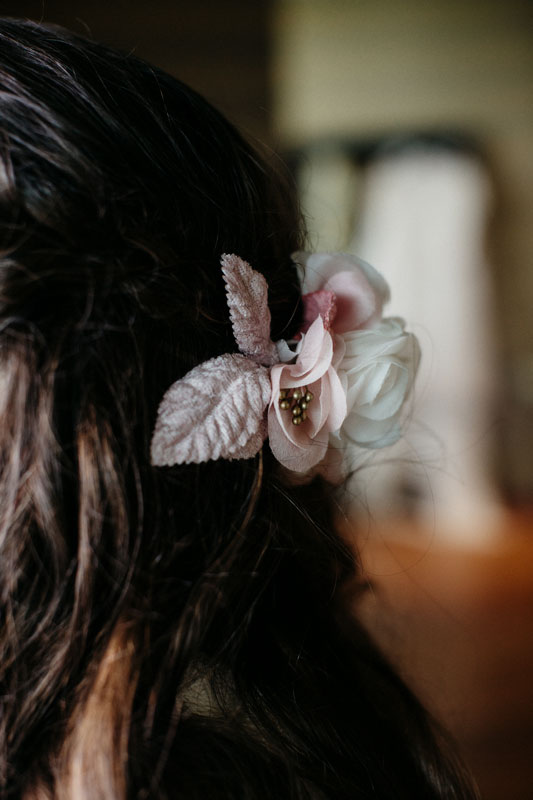 l'acconciatura della sposa - matrimonio libanese nelle langhe