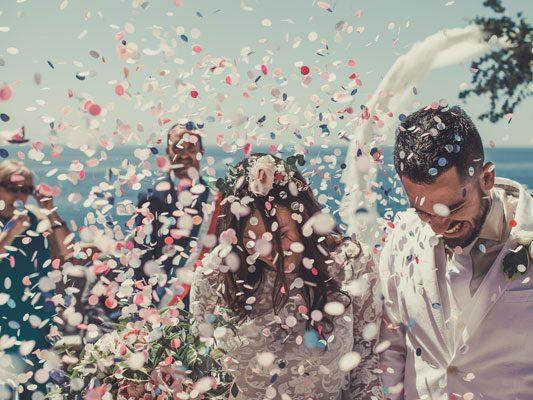 Un matrimonio in Liguria, una terrazza sul mare